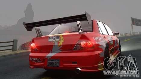 Mitsubishi Lancer Evolution VIII MR for GTA 4 back left view