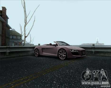 Audi R8 Spyder for GTA San Andreas side view