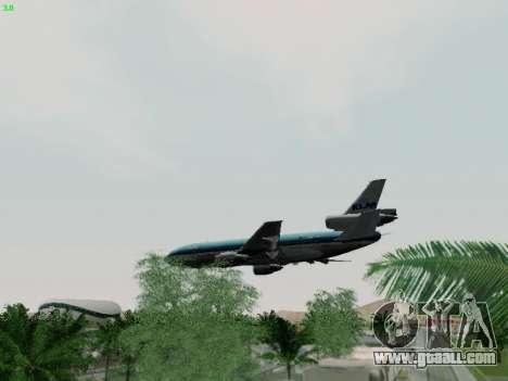 McDonell Douglas DC-10-30 KLM Royal Dutch for GTA San Andreas upper view
