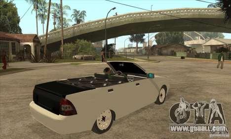 VAZ LADA Priora convertible for GTA San Andreas right view