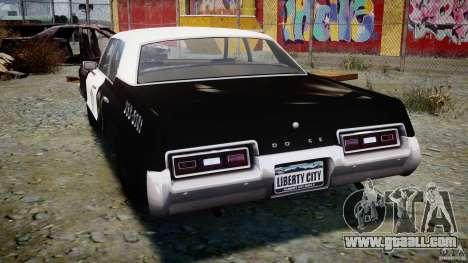 Dodge Monaco 1974 (bluesmobile) for GTA 4 back left view