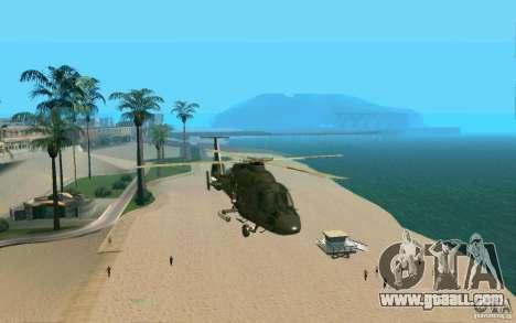 Ka-60 Kasatka for GTA San Andreas back view