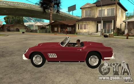 Ferrari 250 California 1957 for GTA San Andreas left view