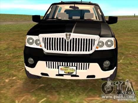 Lincoln Navigator for GTA San Andreas right view