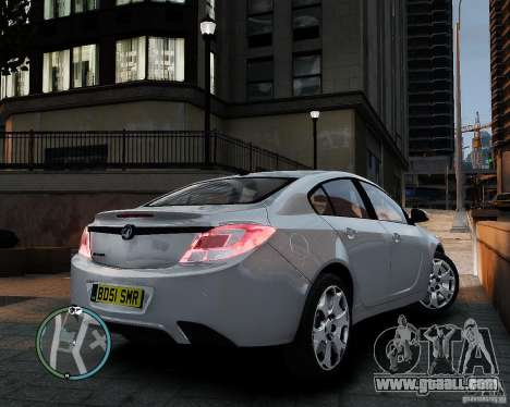 Vauxhall Insignia v1.0 for GTA 4 back view