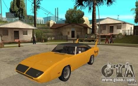 Plymouth Roadrunner Superbird Custom for GTA San Andreas