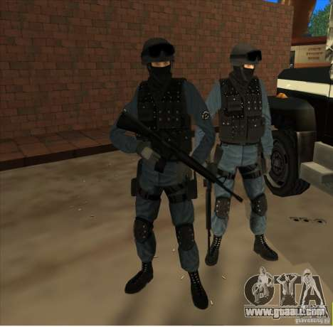 Los Angeles S.W.A.T. Skin for GTA San Andreas second screenshot