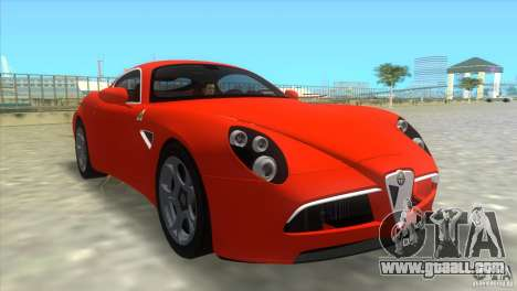 Alfa Romeo 8C Competizione for GTA Vice City left view