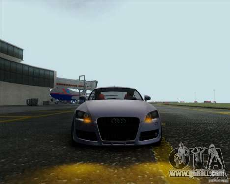 Audi TT for GTA San Andreas back left view