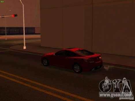 Hyundai Genesis Coupé 3.8 Track v1.0 for GTA San Andreas upper view
