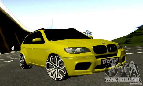 BMW X5M Gold for GTA San Andreas back view