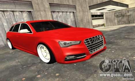 Audi A6 Avant Stanced for GTA San Andreas upper view