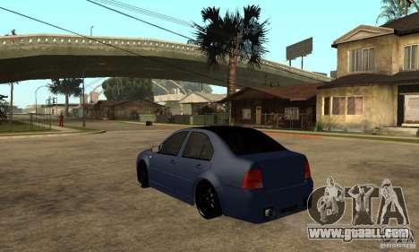 Volkswagen Bora for GTA San Andreas back left view