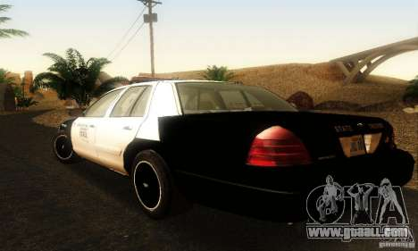 Ford Crown Victoria Oklahoma Police for GTA San Andreas left view