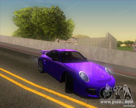 Porsche 911 GT2 (997) for GTA San Andreas upper view