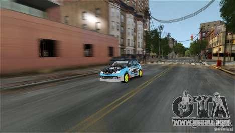 Subaru Impreza WRX STI Rallycross KMC Wheels for GTA 4 left view