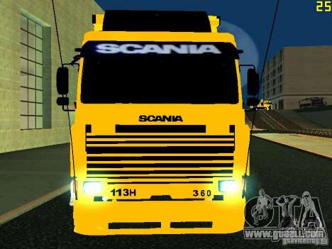 Scania 113H for GTA San Andreas inner view