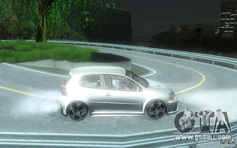VolksWagen Golf GTI W12 TT Black Revel for GTA San Andreas back view