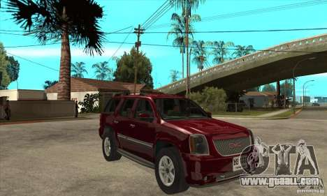 GMC Yukon 2008 for GTA San Andreas back view