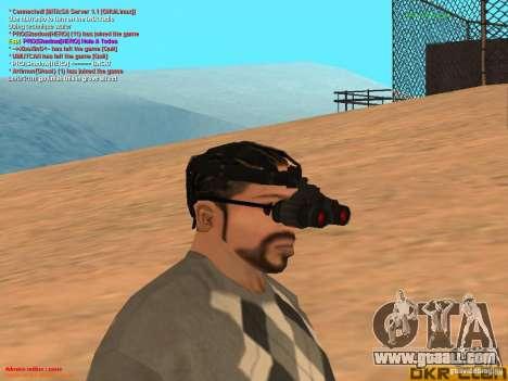 NV Goggles for GTA San Andreas second screenshot