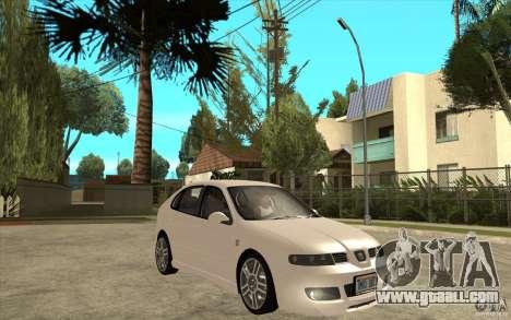 Seat Leon Cupra - Stock for GTA San Andreas back view