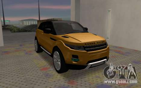 Land Rover Range Rover Evoque for GTA San Andreas right view