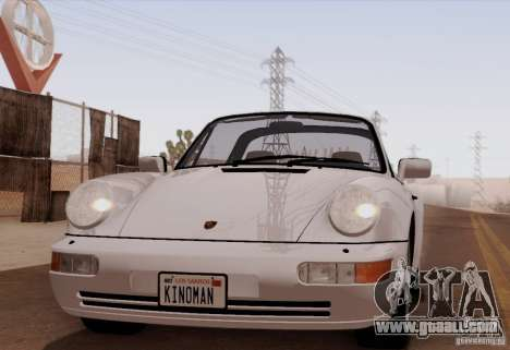 Porsche 911 Carrera 4 Targa (964) 1989 for GTA San Andreas back left view