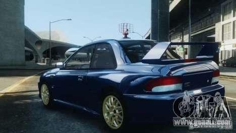 Subaru Impreza 22B 1998 for GTA 4 back view