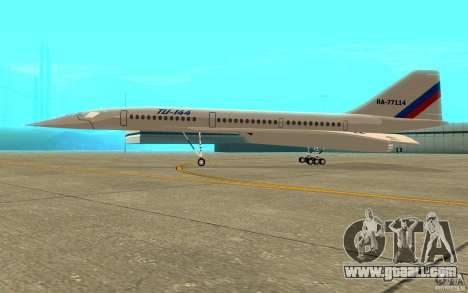 Tu-144 for GTA San Andreas back left view
