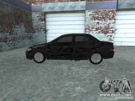 Mitsubishi Lancer 1.6 for GTA San Andreas inner view
