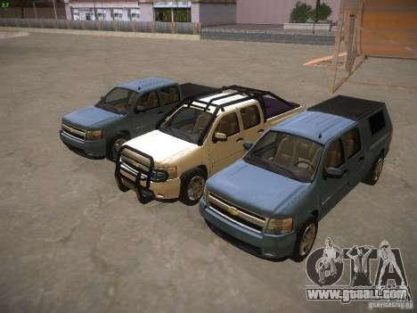 Chevrolet Silverado for GTA San Andreas bottom view
