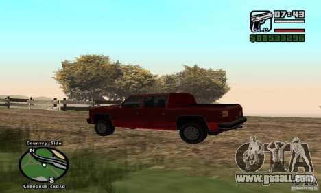 Rancher 4 Doors Pick-Up for GTA San Andreas left view