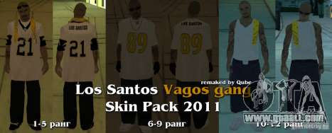 New skins The Vagos Gang for GTA San Andreas