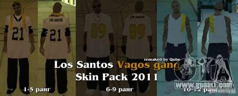 New skins The Vagos Gang for GTA San Andreas