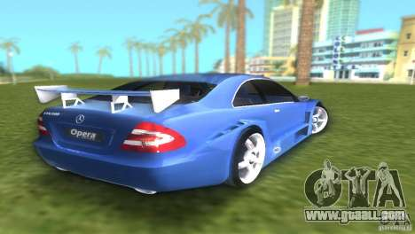 Mercedes-Benz CLK500 C209 for GTA Vice City back left view