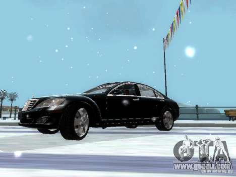Mercedes-Benz S600 for GTA San Andreas inner view