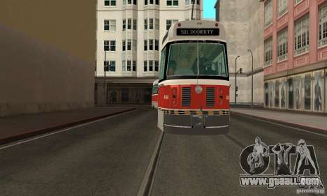 Canadian Light Rail for GTA San Andreas back left view