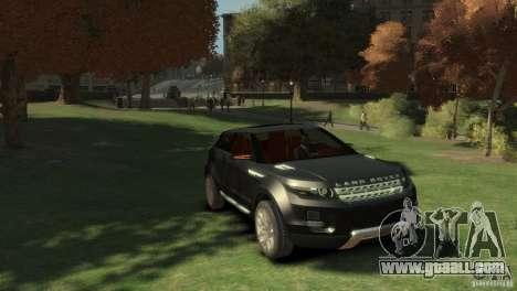 Land Rover Rang Rover LRX Concept for GTA 4 right view