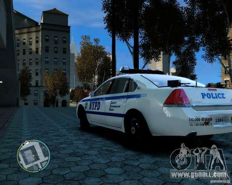 NYPD Chevrolet Impala 2006 [ELS] for GTA 4 right view