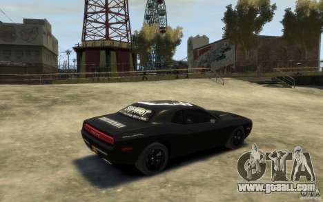Dodge Challenger Concept Slipknot Edition for GTA 4 right view