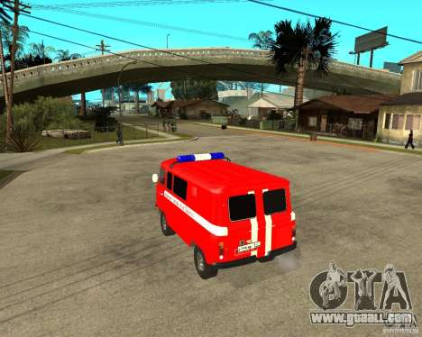UAZ Fire Brigade for GTA San Andreas back left view