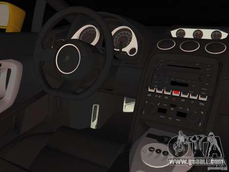 Lamborghini Gallardo for GTA Vice City back view