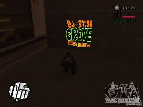 New graffiti gangs for GTA San Andreas sixth screenshot