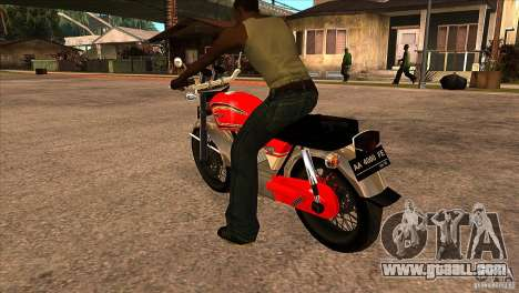 Honda CB 125 for GTA San Andreas back left view