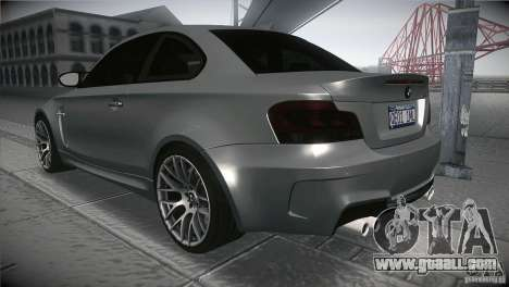 BMW 1M E82 Coupe 2011 V1.0 for GTA San Andreas back left view