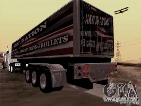 Trailer, Peterbilt 377 for GTA San Andreas back left view