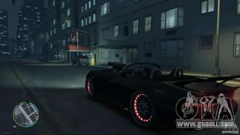 Red Neon  Banshee for GTA 4 right view
