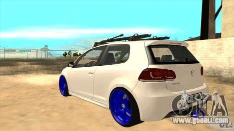 Volkswagen Golf MK6 Hybrid GTI JDM for GTA San Andreas back left view
