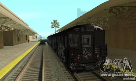 GTA IV Enterable Train for GTA San Andreas left view