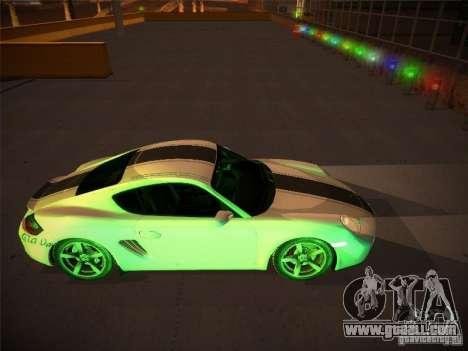 Porsche Cayman S Snow for GTA San Andreas inner view